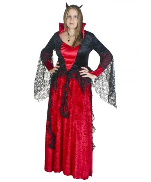 Womens Deluxe She Devil Plus Size Costume