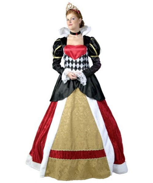 Womens Elite Queen of Hearts Plus Size Costume
