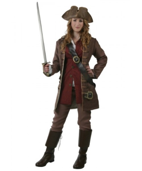 Womens Female Authentic Caribbean Pirate Plus Size Costume