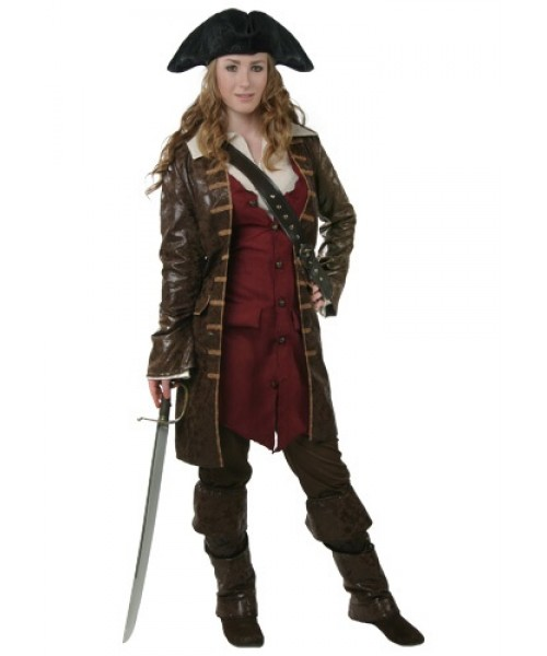 Womens Female Caribbean Pirate Plus Size Costume