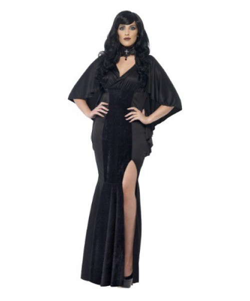 Womens Female Curves Dark Sorceress Plus Size Costume