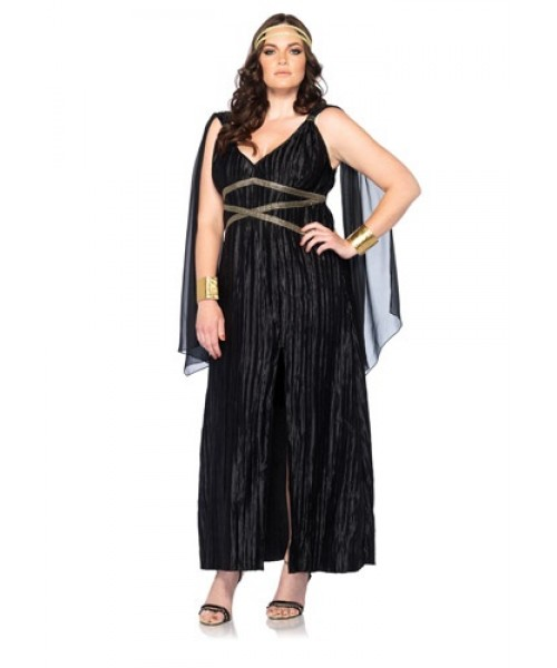 Womens Female Dark Goddess Plus Size Costume