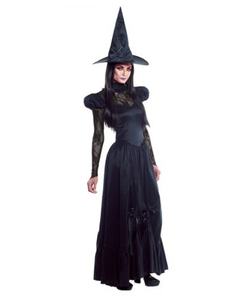 Womens Female Emerald Witch Plus Size Costume