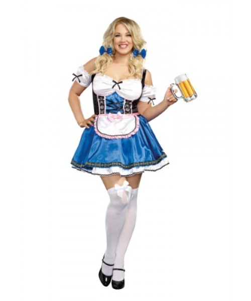 Womens Female Happy New Beer Plus Size Costume
