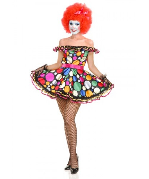Womens Female Just Clownin Plus Size Costume