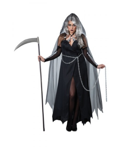 Womens Female Lady Reaper Plus Size Costume