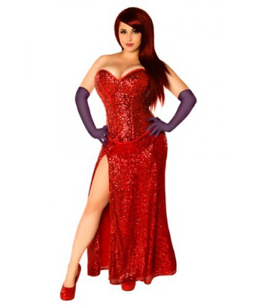 Womens Female Miss Jessica Corset Plus Size Costume