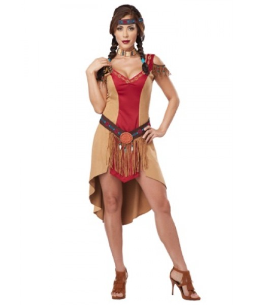 Womens Female Native Beauty Plus Size Costume