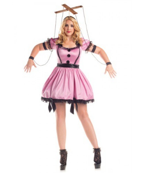 Womens Female Pink Marionette Plus Size Costume
