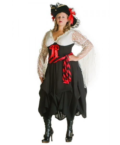 Womens Female Pirate Plus Size Costume