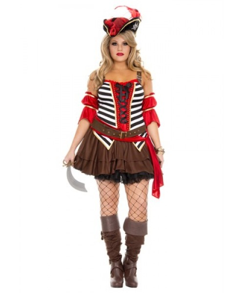 Womens Female Private Pirate Plus Size Costume