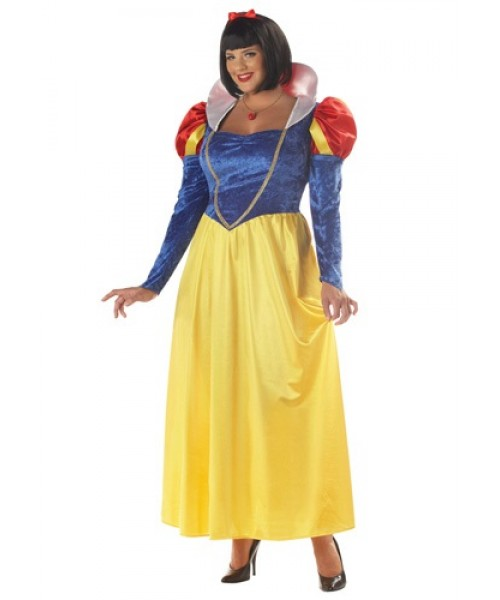 Womens Female Snow White Plus Size Costume