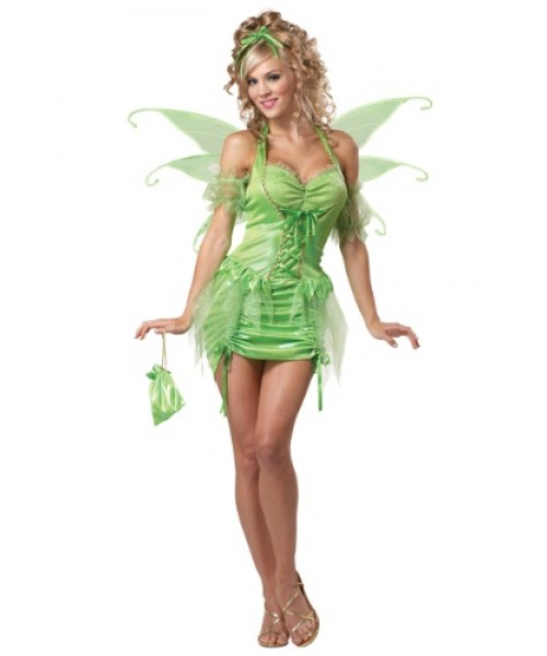 Womens Female Tinkerbell Fairy Plus Size Costume