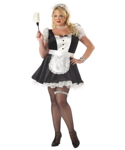 Womens Fiona the French Maid Plus Size Costume