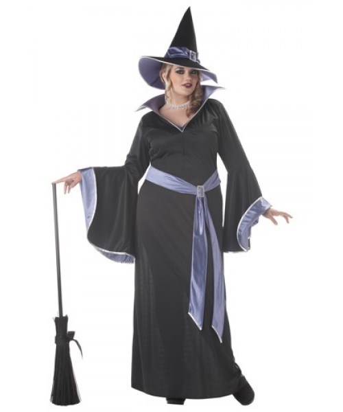 Womens Glamour Witch Incantasia Plus Size Costume