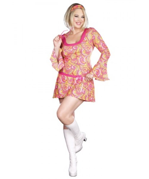 Womens Go Go Gorgeous Plus Size Costume