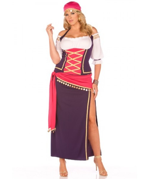 Womens Gypsy Maiden Plus Size Costume