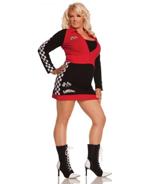 Womens High Speed Hottie Plus Size Costume