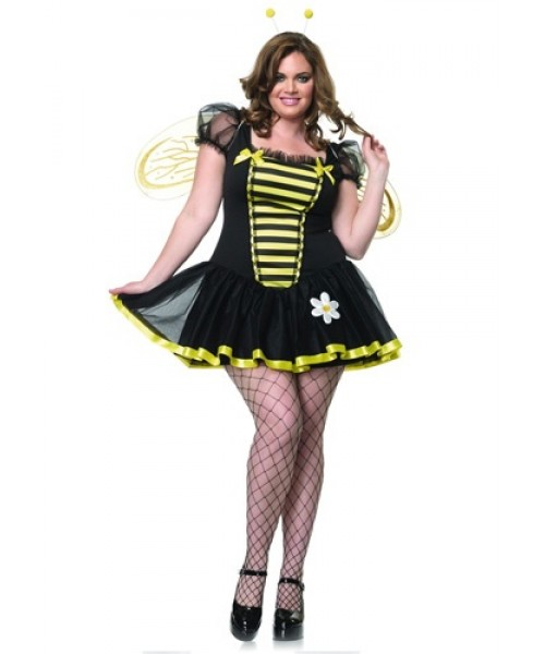 Womens Honey Bee Plus Size Costume
