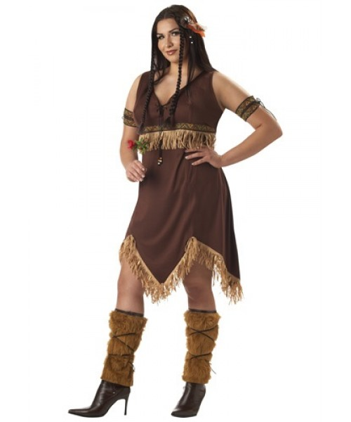 Womens Indian Princess Plus Size Costume