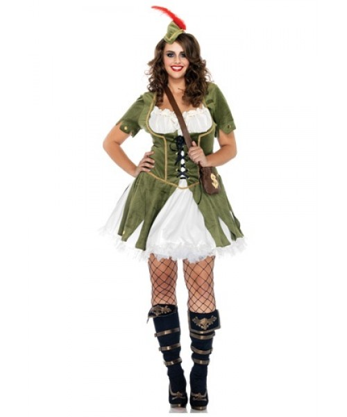 Womens Lady Robin Hood Plus Size Costume