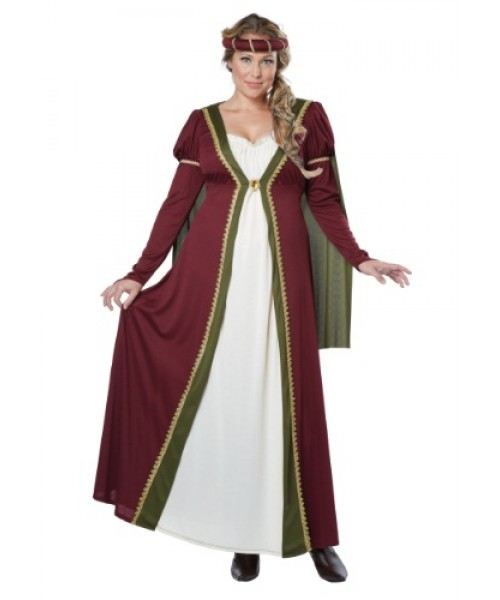 Womens Medieval Maiden Plus Size Costume