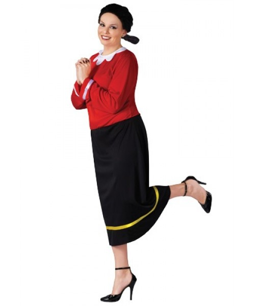 Womens Olive Oyl Plus Size Costume
