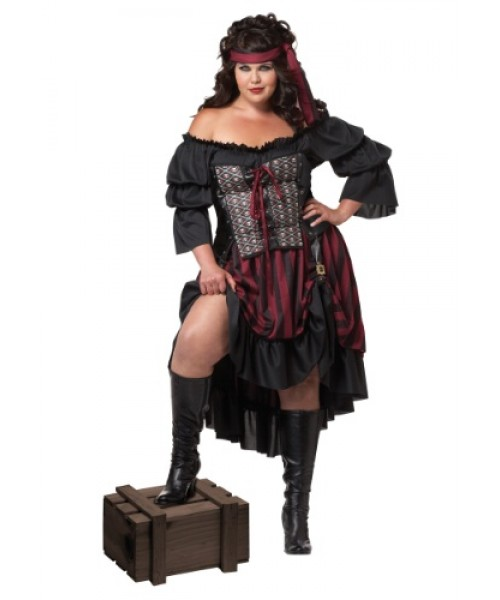Womens Pirate Wench Plus Size Costume
