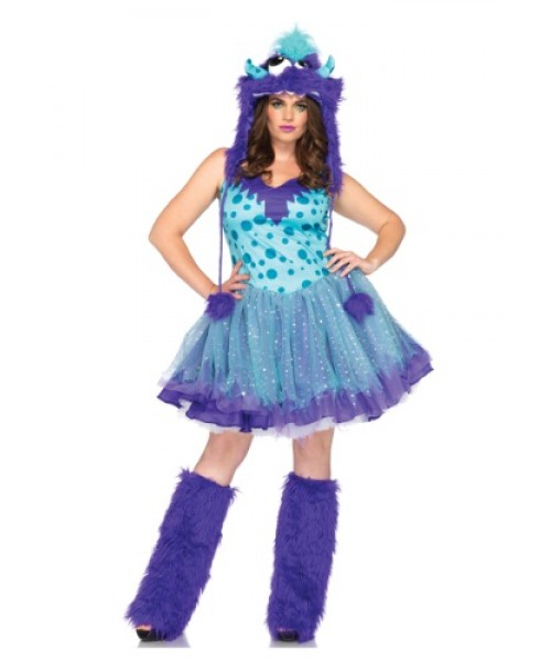Womens Polka Dotty Monster Plus Size Costume
