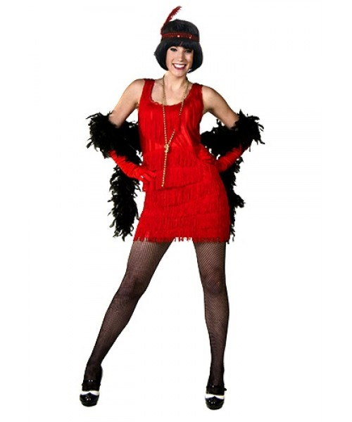 Womens Red Flapper Dress Plus Size Costume