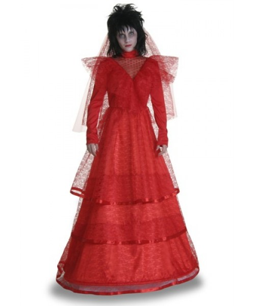 Womens Red Gothic Wedding Dress Plus Size Costume