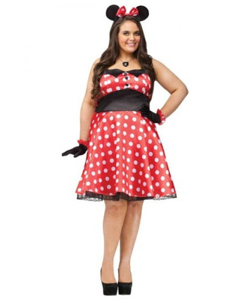 minny mouse women's plus size costume