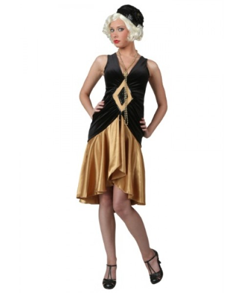 Womens Roaring 20's Flapper Plus Size Costume