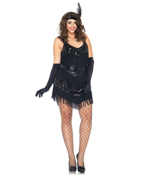 Womens Roaring 20s Honey Plus Size Costume