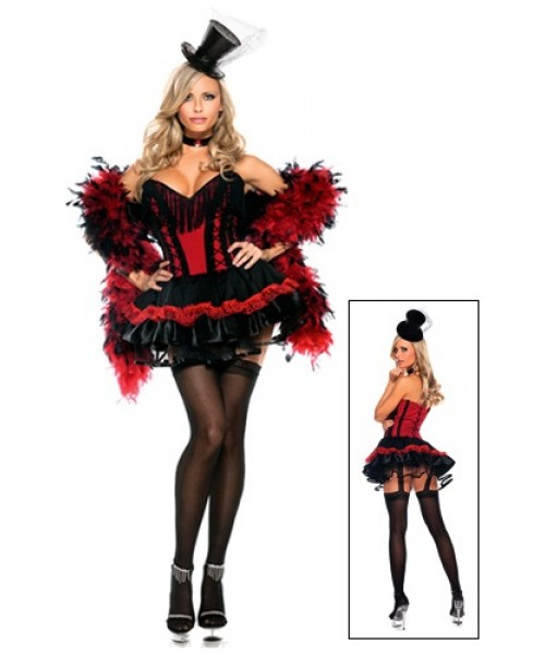 Womens Saloon Girl Plus Size Costume