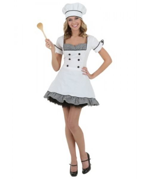 Womens Sexy Chef Plus Size Costume