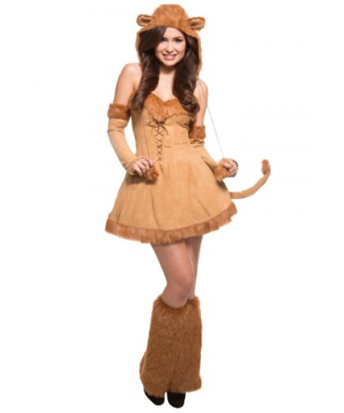 Womens Sexy Lion Plus Size Costume