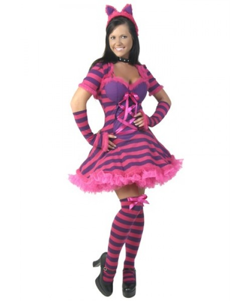 Womens Sexy Wonderland Cat Plus Size Costume
