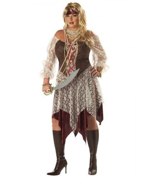 Womens South Seas Siren Pirate Plus Size Costume