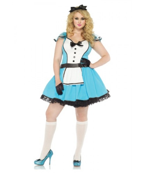 Womens Storybook Alice Plus Size Costume
