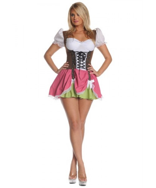 Womens Swiss Girl Plus Size Costume