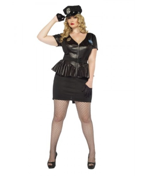 Womens Traffic Cop Plus Size Costume