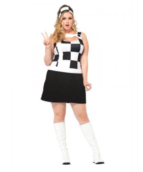 Womens Trippy Trixie Plus Size Costume
