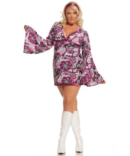 Womens Vintage Vixen Plus Size Costume