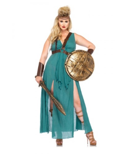 Womens Warrior Maiden Plus Size Costume