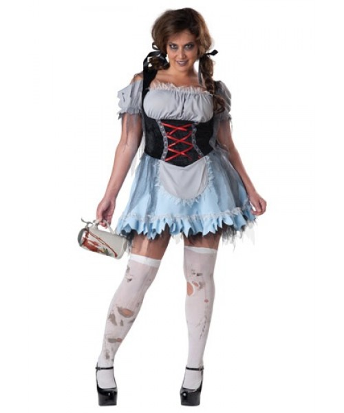 Womens Zombie Beer Maiden Plus Size Costume