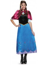 Frozen Anna Deluxe Traveling Gown Womens Plus Size Costume