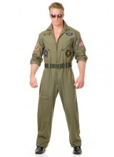 Mens Air Force Pilot Plus Size Costume