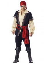 Mens Authentic Pirate Plus Size Costume