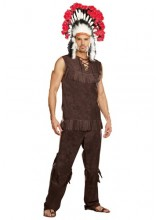 Mens Chief Long Arrow Indian Plus Size Costume